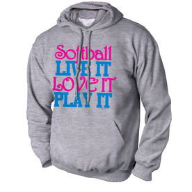 Softball Standard Sweatshirt Softball Live It Love It Play It
