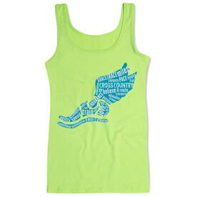 Cross Country Women's Athletic Tank Top Winged Foot Inspirational Words