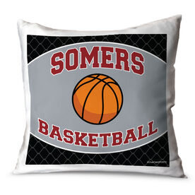 Basketball Throw Pillow Personalized Basketball Team With Basketball