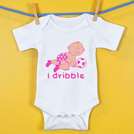 Soccer Baby One-Piece I Dribble Soccer Girl