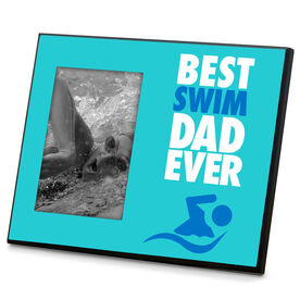 Swimming Wood Frame Best Dad Ever
