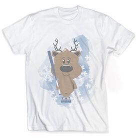 Vintage Softball T-Shirt - Reindeer Batter