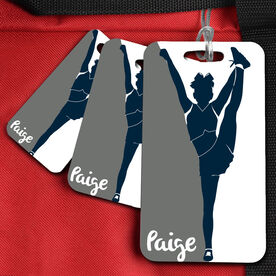 Cheer Bag/Luggage Tag Cheerleader Silhouette