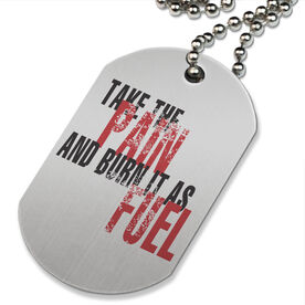 Take the Pain Printed Dog Tag Necklace