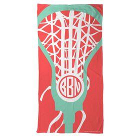 Lacrosse Beach Towel Monogrammed Lax Is Life