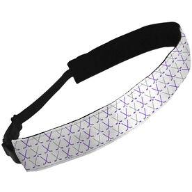 Julibands No-Slip Headbands Crossed Hockey Sticks Pattern