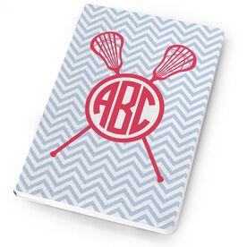Girls Lacrosse Notebook Monogram