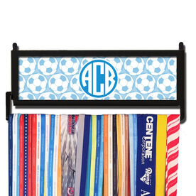 AthletesWALL Monogram with Soccer Ball Pattern Medal Display