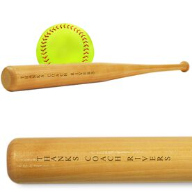 Softball Mini Engraved Bat Personalized Thanks Coach