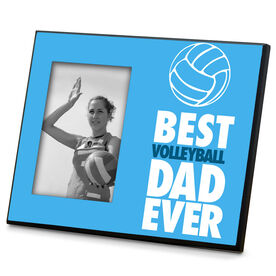 Volleyball Wood Frame  Best Dad Ever