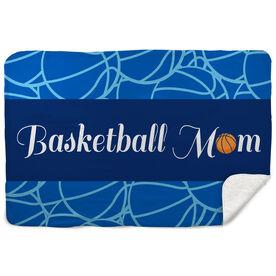 Basketball Sherpa Fleece Blanket Mom Stripe