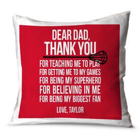 Lacrosse Throw Pillow Dear Dad