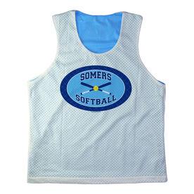 Girls Softball Racerback Pinnie Personalized Softball Team with Crossed Bats Navy Carolina