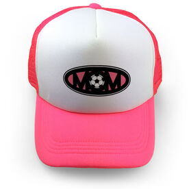 Soccer Trucker Hat - Mom Oval