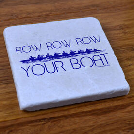 Row Row Row Your Boat - Stone Coaster