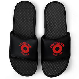Wrestling Black Slide Sandals - Your Team Name Wrestling