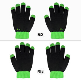 Running Gloves with Touchscreen Fingers - Black/Neon