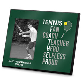 Tennis Photo Frame Tennis Father Words