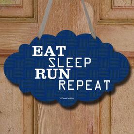 Eat Sleep Run Repeat Decorative Cloud Sign