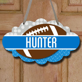 Football Cloud Sign Personalized 2 Tier Patterns with Football