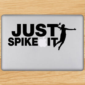 Volleyball Removable Laptop Decal Just Spike It