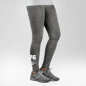 Hockey Performance Tights Crossed Sticks with Number