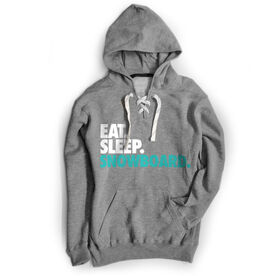 Skiing & Snowboarding Sport Lace Sweatshirt Eat. Sleep. Snowboard.