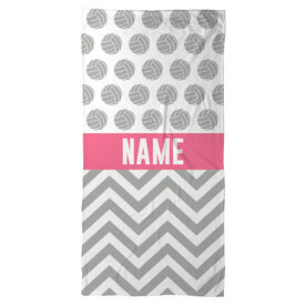 Volleyball Beach Towel Personalized 2 Tier Pattern
