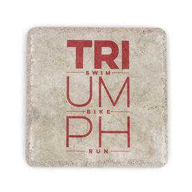 Triathlon Stone Coaster Triumph Swim Bike Run