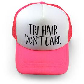 Triathlon Trucker Hat - Tri Hair Don't Care