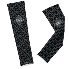 Volleyball Printed Arm Sleeves Volleyball Link Pattern with Monogram