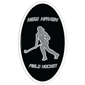 Field Hockey Oval Car Magnet Personalized Running Player