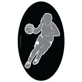 Basketball Oval Car Magnet Basketball Girl
