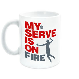 Volleyball Ceramic Mug My Serve Is On Fire