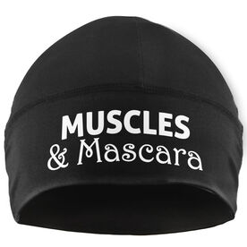 Beanie Performance Hat - Muscles & Mascara (White Lettering)