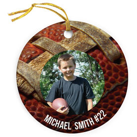 Football Porcelain Ornament Custom Photo