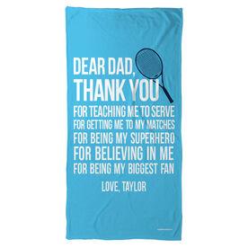 Tennis Beach Towel Dear Dad