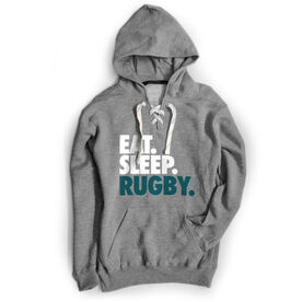 Rugby Sport Lace Sweatshirt Eat. Sleep. Rugby.