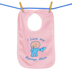 Baby Bib I Love My Runner Mom
