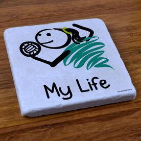 My Life Volleyball (Female) - Stone Coaster