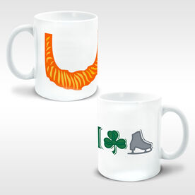 Figure Skating Ceramic Mug Leprechaun Beard I Shamrock