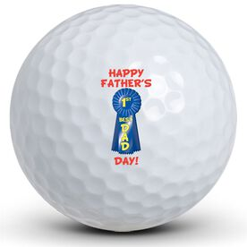 #1 Dad Ribbon Golf Ball