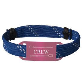 Crew Lace Bracelet Crew with 2 Oars Adjustable Sport Lace Bracelet