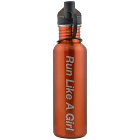 Run Like A Girl 24 oz Stainless Steel Water Bottle
