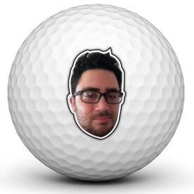Custom Photo Cut-Out Golf Ball