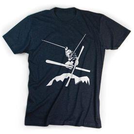 Skiing Tshirt Short Sleeve Airborne Skiing