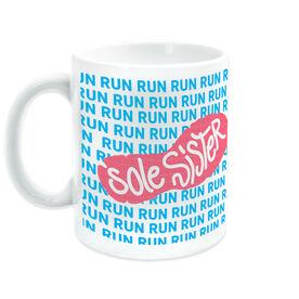 Running Ceramic Mug Sole Sister With Run Pattern
