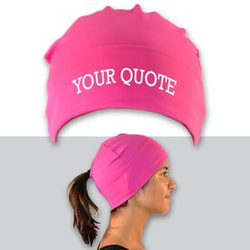 Performance Ponytail Cuff Hat Your Custom Quote
