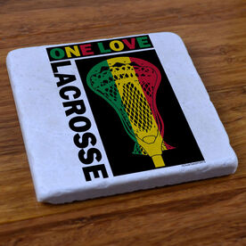 One Love Lacrosse - Natural Stone Coaster