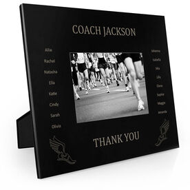 Track & Field Engraved Picture Frame - Team Name With Roster (Coach)